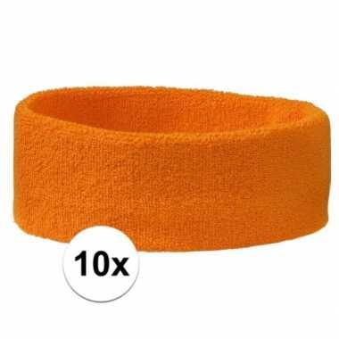 Oranje hoofdbandjes team oranje 10x