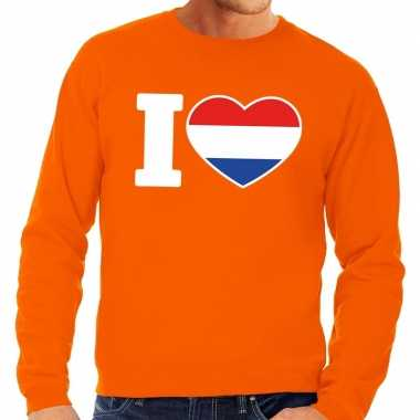 Oranje i love holland sweater volwassenen