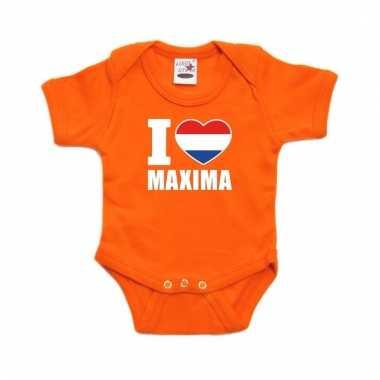Oranje i love maxima rompertje baby