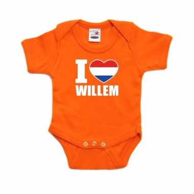 Oranje i love willem rompertje baby