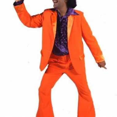 Oranje jas en broek heren