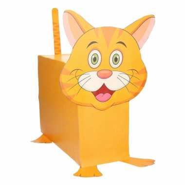 Oranje kat/poes surprise maken startpakket