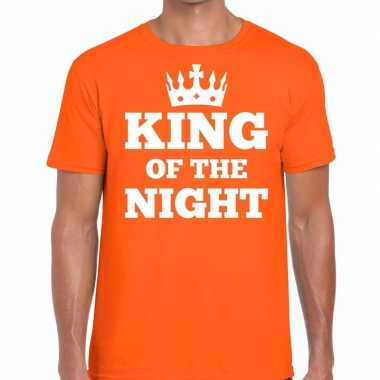 Oranje king of the night t-shirt heren