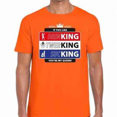 Oranje kingsday if you like shirt voor heren