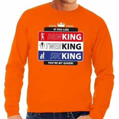 Oranje kingsday if you like sweater voor heren