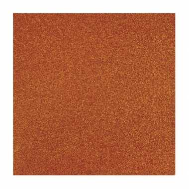 Oranje knutsel papier glitter