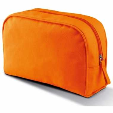 Oranje make-up opberg tasje 5 liter