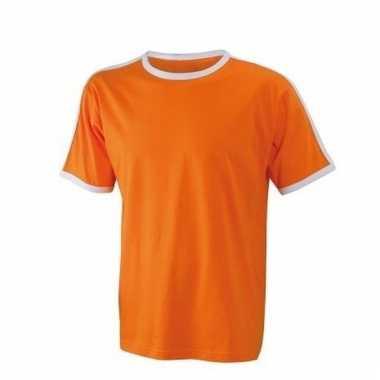 Oranje met wit shirtje voor heren