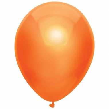Oranje metallic ballonnen 30 cm 10 stuks