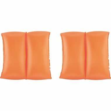 Oranje opblaas zwembandjes 20 cm