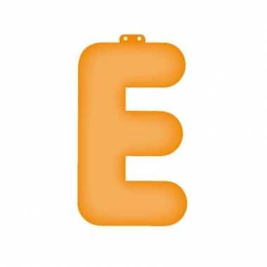 Oranje opblaasbare letter e