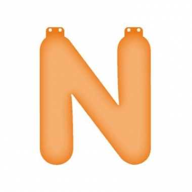 Oranje opblaasbare letter n
