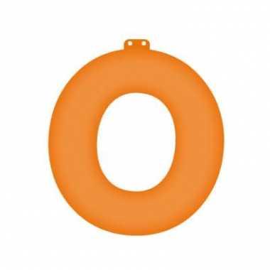 Oranje opblaasbare letter o
