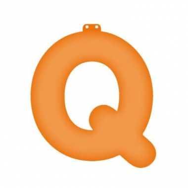Oranje opblaasbare letter q