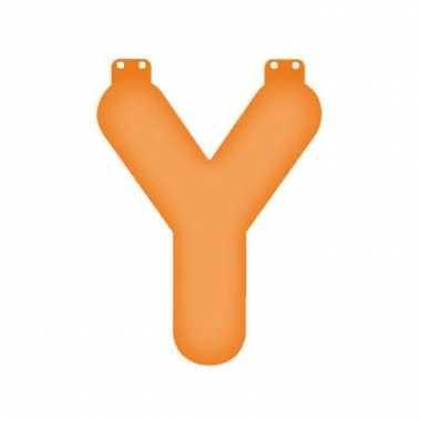 Oranje opblaasbare letter y