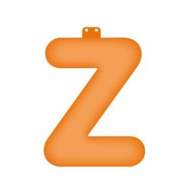 Oranje opblaasbare letter z