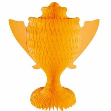 Oranje papieren cup