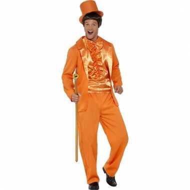 Oranje verkleedpak dumb and dumber voor heren