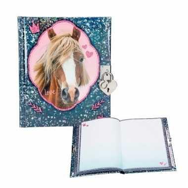 Paarden geheimenboekje blauw