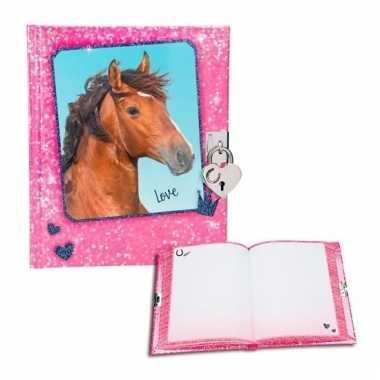 Paarden geheimenboekje roze