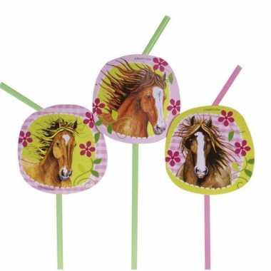 Paarden rietjes 8 stuks