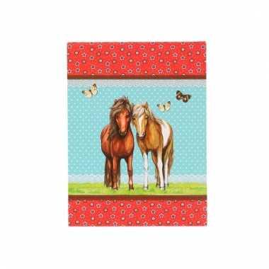 Paarden schrijfboekje a7