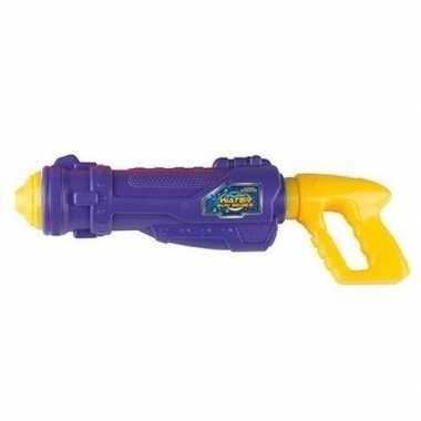 Paars/geel water pistool 44 cm