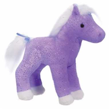 Paars paarden knuffel sparkle 18 cm