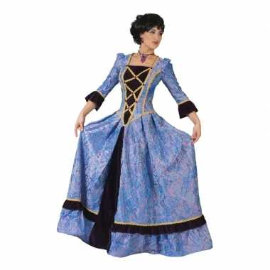 Paars/zwarte barok carnavalsjurk voor dames