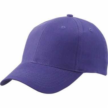 Paarse baseball cap van katoen