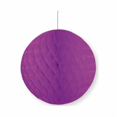 Paarse decoratie bal 10 cm brandvertragend