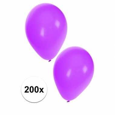 Paarse feest ballonnen, 200 st