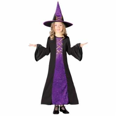 Paarse heksenkleding kinderen