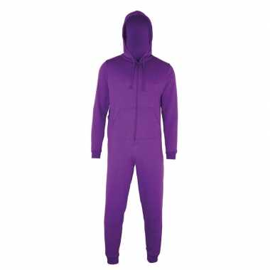 Paarse jumpsuit all-in-one voor heren