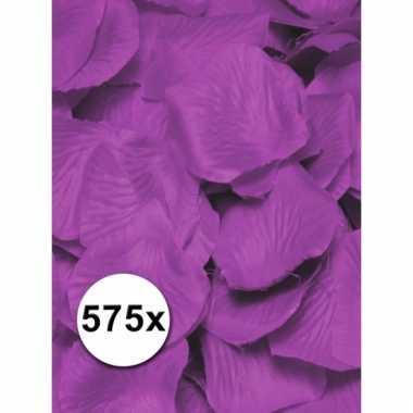 Paarse lila rozenblaadjes van stof 575 st