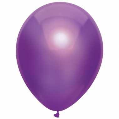 Paarse metallic ballonnen 30 cm 10 stuks