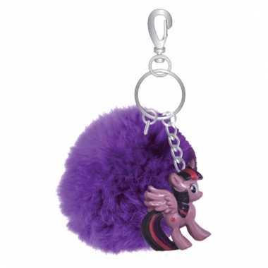 Paarse my little pony sleutelhanger/tashanger voor kinderen