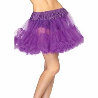 Paarse onderrok petticoat luxe