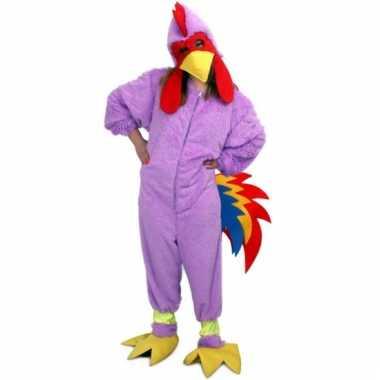 Paarse onesie van een kip