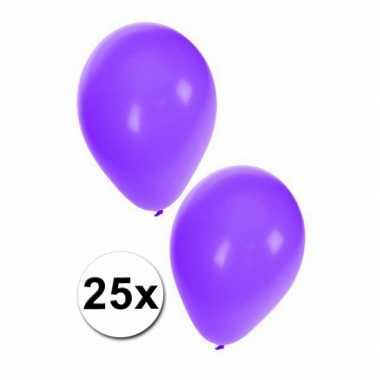 Paarse party ballonnen 25x