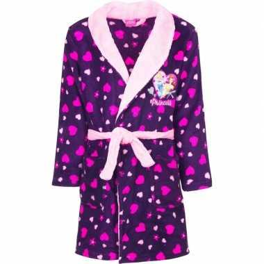 Paarse princess kamerjas met capuchon voor meisjes