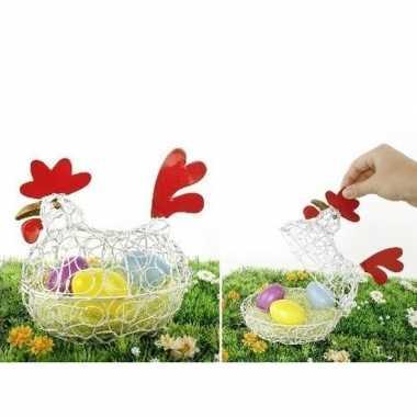 Paas kip/decoratie eierschaal 25 cm