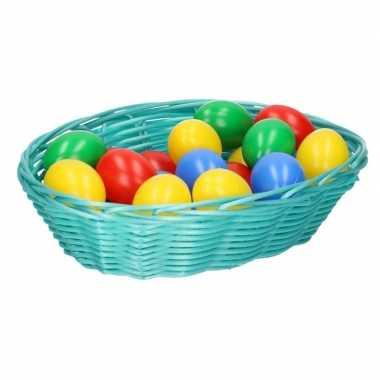 Paasdecoratie mandje met eieren 20 cm