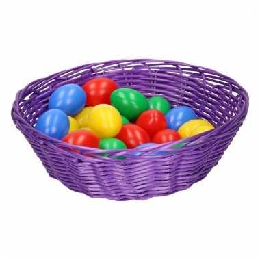 Paasdecoratie mandje met eieren 25 cm 10102455