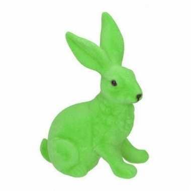 Paasviering paashaas groen decoratie 23 cm