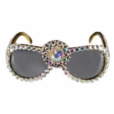 Pailletten verkleed bril voor dames