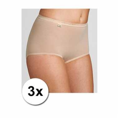 Pakket met 3x sloggi ondergoed slip voor dames
