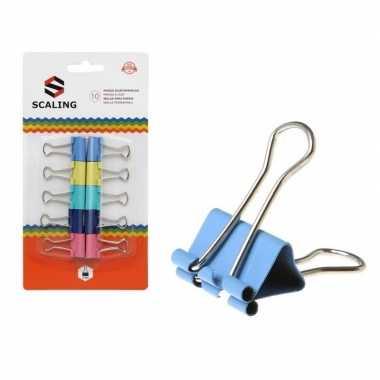 Papierbinders gekleurd 10 stuks