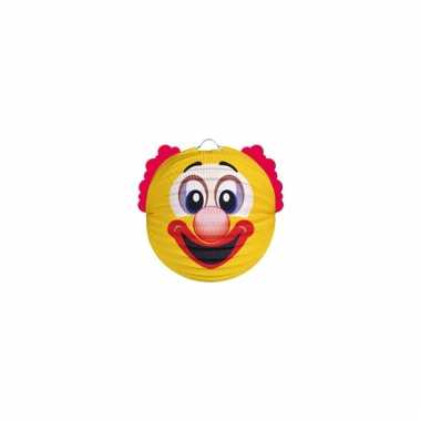 Papieren clown lampion geel