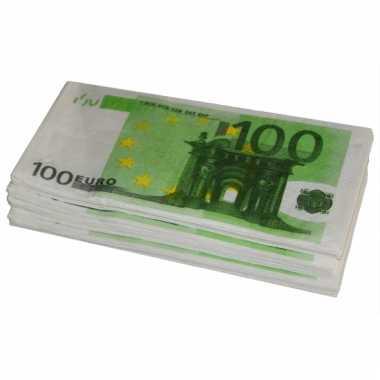 Papieren geld 100 euro servetten 10 stuks